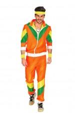 80s Orange Costumes Men Tracksuit