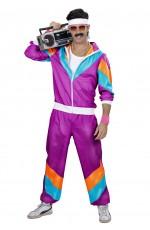 Purple Mens 80's Tracksuit Shell Suit Costume