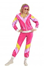 Ladies 80s Shell Suits Hot Pink Tracksuit