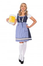 Ladies Oktoberfest Beer Maid Fancy Dress Costume