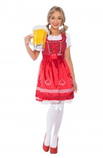 Ladies Beer Maid Oktoberfest Bavarian Wench German Heidi Fancy Dress Costume