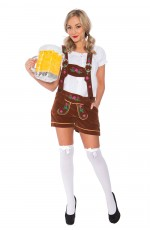 Ladies Oktoberfest German Bavarian Heidi Costume