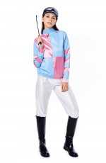 Womans Jockey Horse Racing Rider Ladies Uniform Fancy Dress Costume Outfit Hat