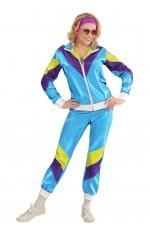 80s Shell Suits Blue Tracksuit Women
