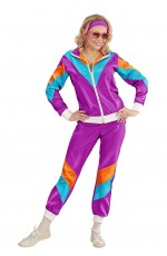 Purple 80s tracksuit costume fashion women
