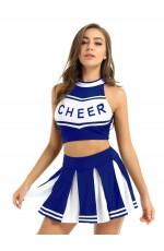 Blue Cheerleader School Girl Uniform Costume