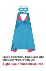 Light Blue & Watermelon red Double sided Cape & Mask Costume set tt1098-17