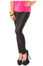 1980 80s Black Slim Leggings