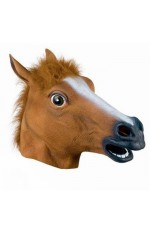 Halloween Party Horse Head Mask Latex Animal Costume Prop Gangnam Style Toys Costume Accessories