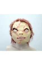 Chucky Doll Head Scary Party Facial Mask Latex Animals Cosplay Prop