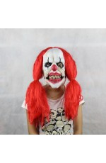 Halloween Prank Horror Scary Movie Rubber Latex Twisty Clown Overhead Mask