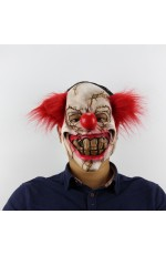 Halloween Prank Horror Scary Movie Rubber Latex Twisty Clown Overhead Mask