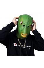 Green Fish Head Mask Funny Costume Accessory