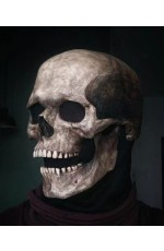 Full Head Skull Skeleton Mask with Movable Jaw