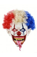 Halloween Scary Clown Mask with Hair
