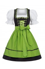 Green Ladies German Bavarian Beer Maid Vintage Costume
