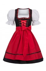 Red Ladies German Beer Maid Vintage Costume