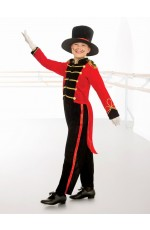 Ringmaster Child Costume Circus Showman Top Tails Pants Hat