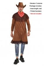 Mens Wild West Gunslinger Cowboy Costume