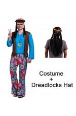 70s Hippy Costume + hat