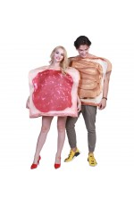 2pcs Couples Sandwich Costume