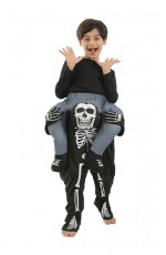 Kids Skeleton Ride On Me Costume
