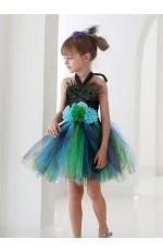 Girls Peacock Costume Tutu Dress