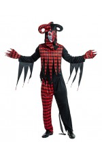 Sinister Jester Adult Clown Costume