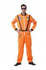 Mens Spaceman Orange Costume
