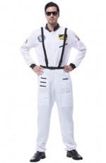 Mens Spaceman White Costume