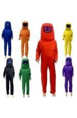 Kids Game Among Us Cosplay Costume Boys Girls Jumpsuit