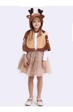 Girls Deer Christmas Tutu Skirt Costume