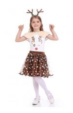 Girls Reindeer Christmas Fancy Costume