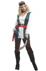 Pirate Costumes - Lady Pirate caribbean swashbuckle Wench fancy Dress