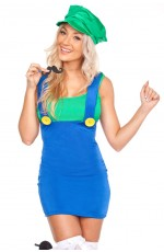 Ladies Mario Luigi Plumber Costume