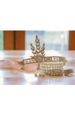 1920s Headband Bracelet Ring Set Vintage Bridal Great Gatsby Flapper Headpiece gatsby gangster ladies