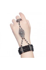 Black 1920s Vintage Bracelet Great Gatsby Flapper Costume Accessories gangster ladies