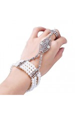 Silver 1920s Vintage Bracelet Great Gatsby Flapper Costume Accessories gangster ladies
