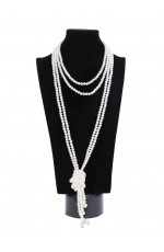 1920s Vintage Necklace Great Gatsby Flapper Costume Accessories gangster