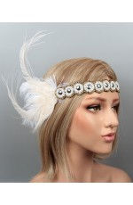 1920s Headband Feather Great Gatsby Headpiece ladies