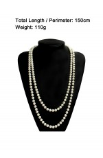 Deluxe 1920s 20s Long Necklace Gatsby Flapper Costume Jewellery