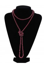 Red Deluxe 1920s 20s Long Necklace Gatsby Flapper Costume Jewellery