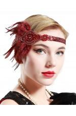1920s Headband Feather