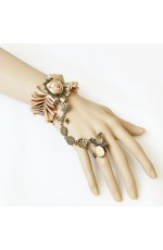 Dracula Gothic Queen Bracelet Ring Set