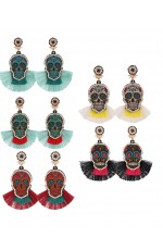 Day Of The Dead Sugar Skull Earrings Assorted Colors