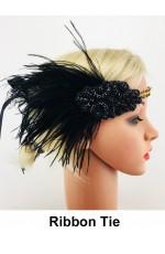 Black Great Gatsby Flapper Headpiece