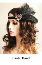 Black Great Gatsby Flapper Headpiece lx0252