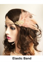 20s Headpiece in Apricot color