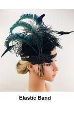 Great Gatsby 1920's Flapper Feather Headdress