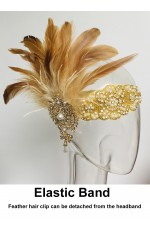 1920s Feather Flapper Headpiece